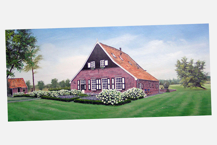 Woonboerderij acryl