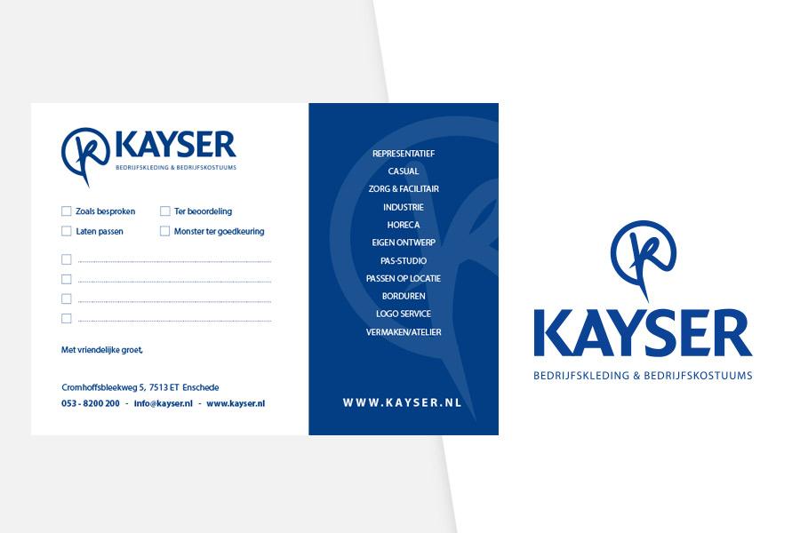 Kayser Bedrijfskleding  restyling logo
