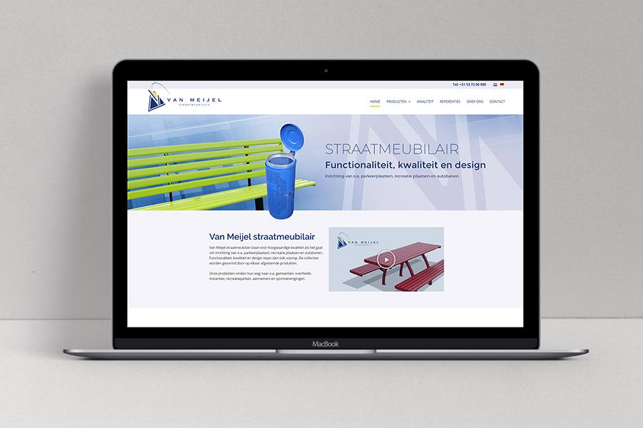 Website Van Meijel Parkeerplaatsmeubilair