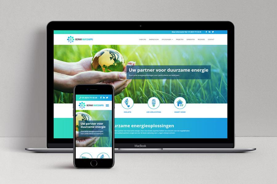 Website ontwerp Bespaar Maatschappij