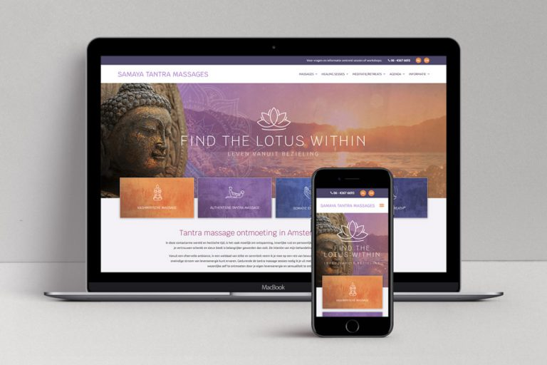 Samaya tantra massage - webdesign