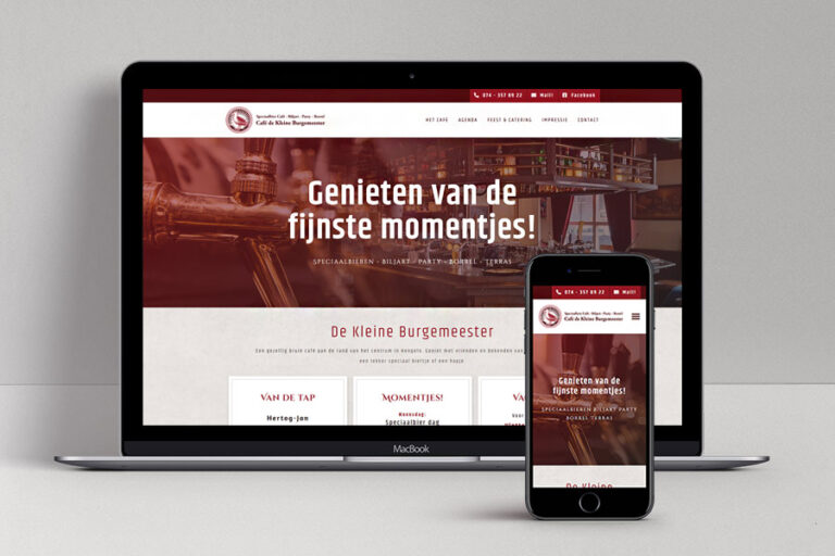 Website ontwerp Café de Kleine Burgemeester